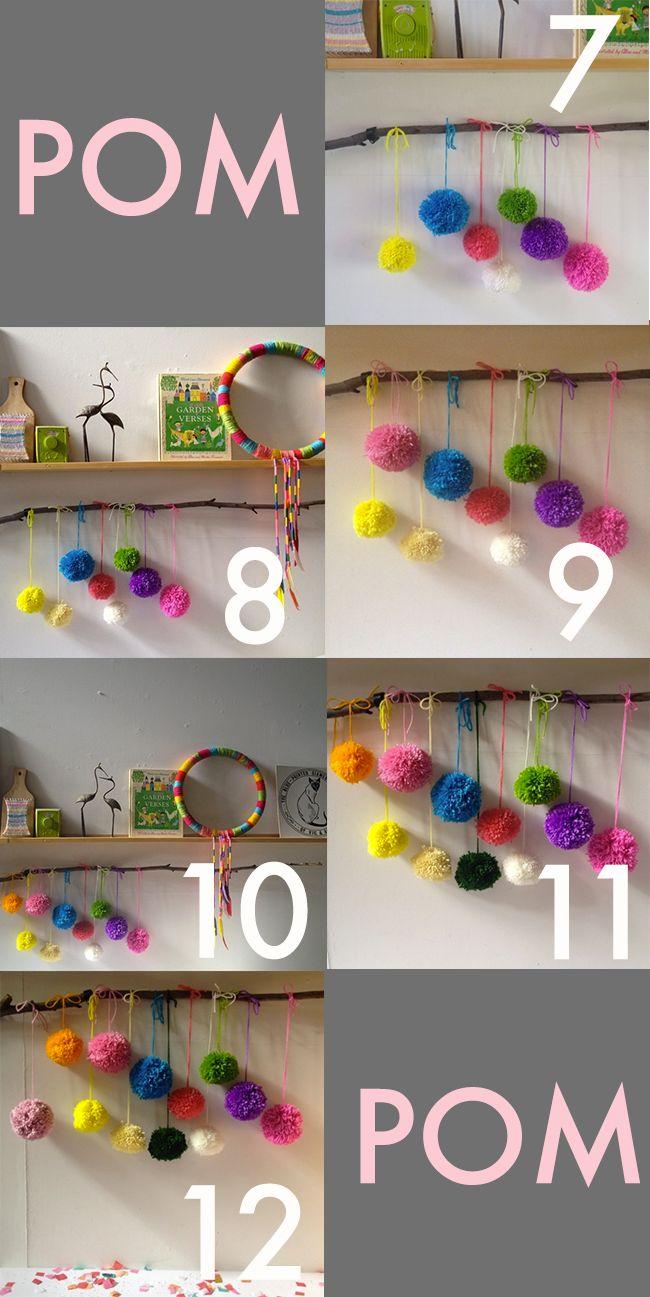 pom poms are awesome. pom pom advent calendar