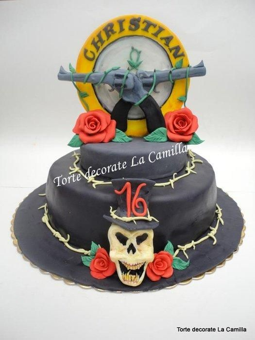 Guns N Roses Cake Decoration