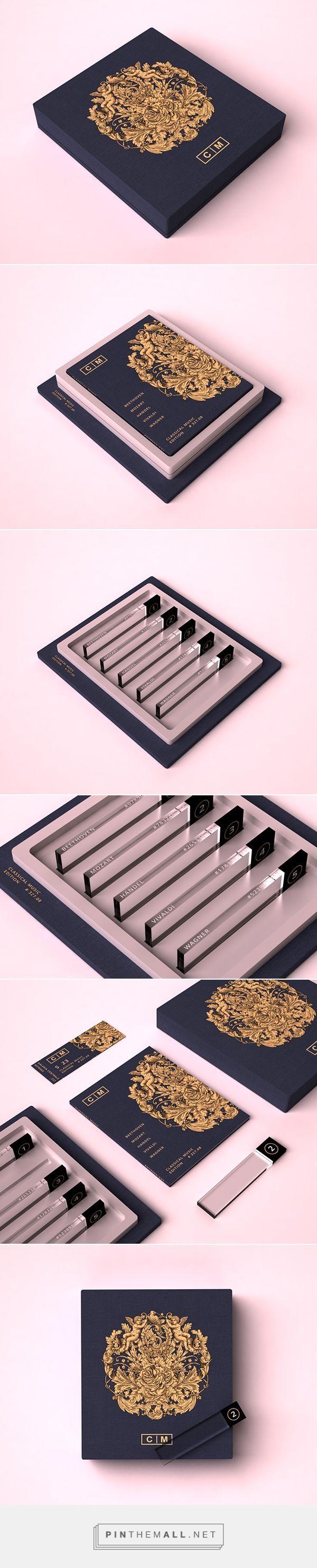Packaging for a Classical Music Collection -idea memo : 테이크아웃형 or 고도주용 잔술같은 느낌으로 브랜딩하면 어떨까