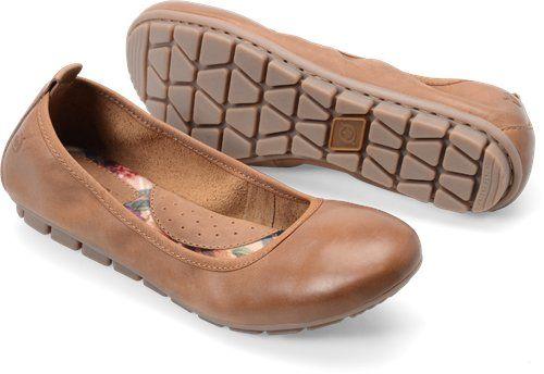 Born Tami in Biscotto - Born Womens Flats on Bornshoes.com