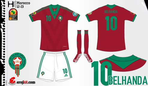 Morocco | home jersey | 2012