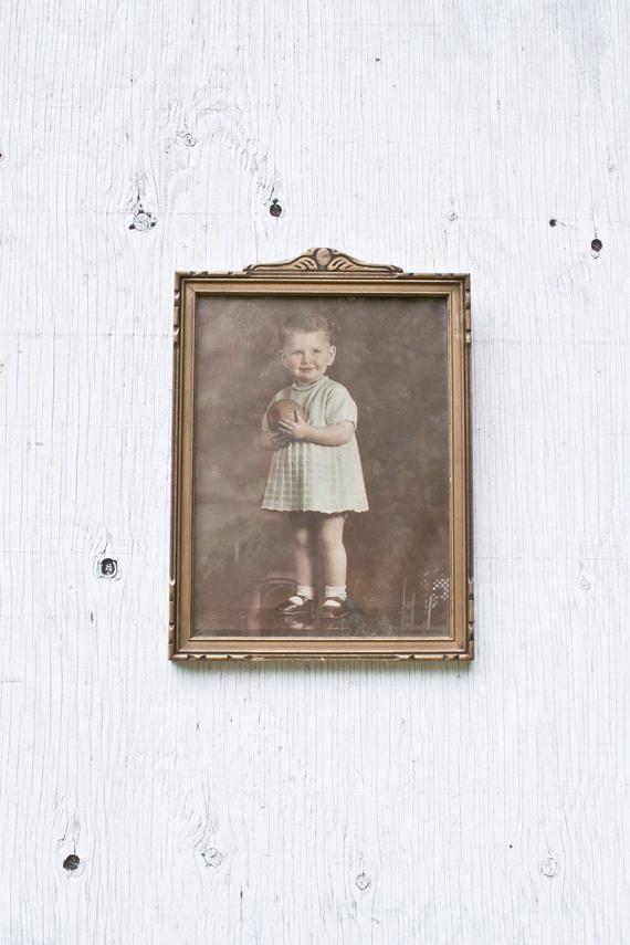 Framed Antique Portrait 10 X 13 Decorative Etsy Antique Portraits Picture On Wood Wood Picture Frames