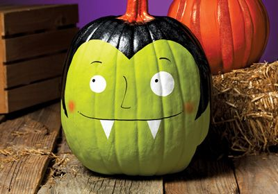 Frightfully Fun Painted Pumpkin