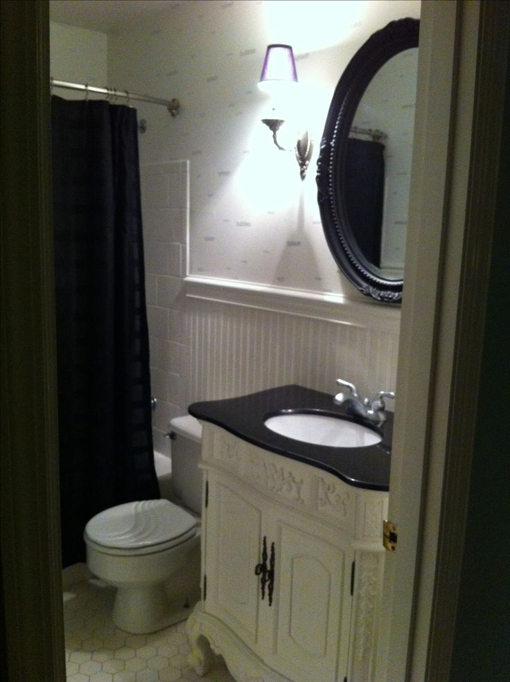 Small bathroom remodel like the vanity and mirror the for How much to redo a small bathroom