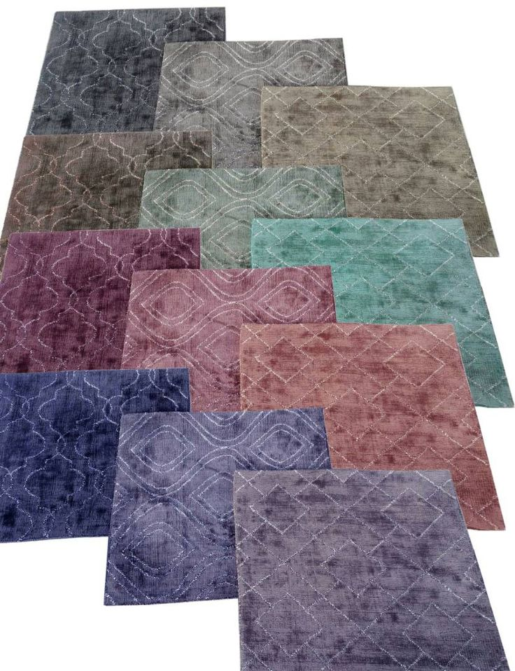 bamboo silk rug in tie and dye