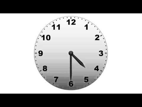 Rekenfilmpje klokkijken halve uren