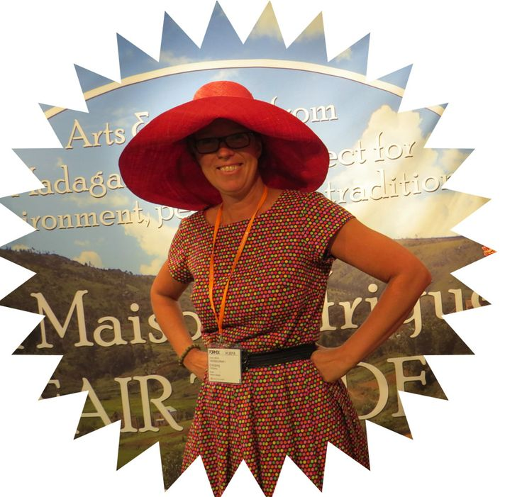 #Formex Ulrika from Worldshop Enköping in La Maison Afrique FAIR TRADE hat.