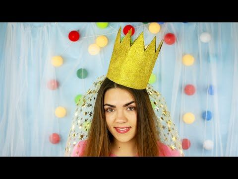 This beautiful DIY  Princess birthday crown for a girl will help you to prepare your child for a themed or fancy-dress party! #princesscrown #birthdayparty #cardboard