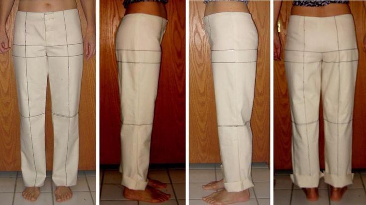Trouser pattern adjustment for forward tilted hips Part II