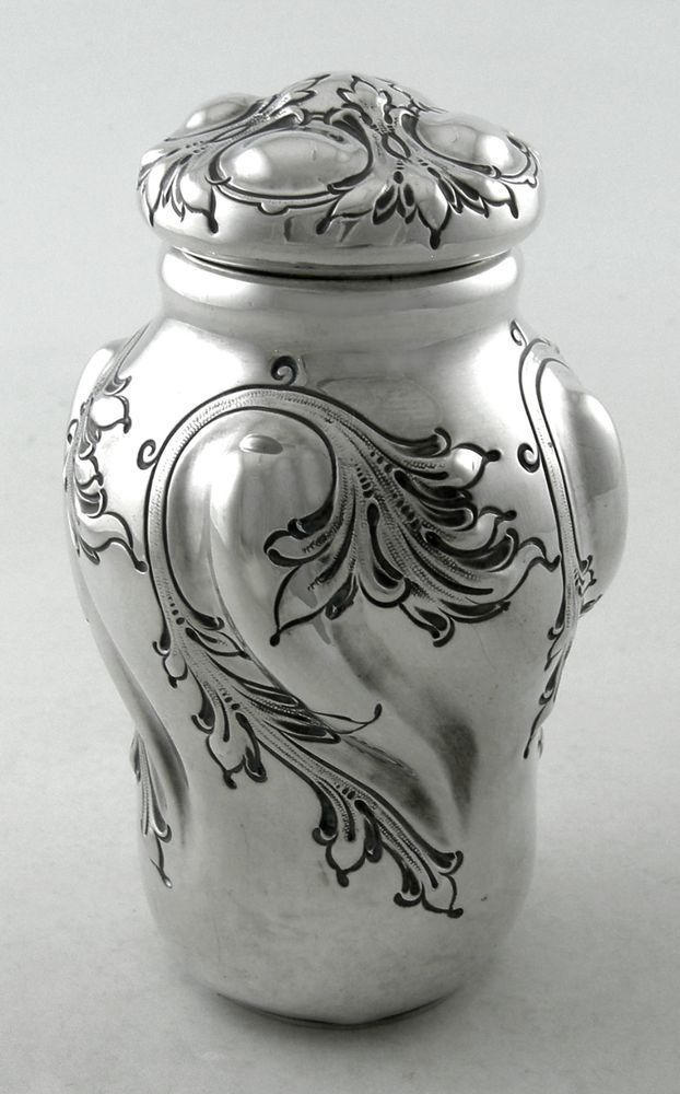 Sterling Theodore B. Starr Art Deco tea caddy (Ca. 1902) #TheodoreBStarr