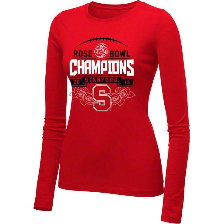 Nike Stanford Cardinal Women's 2013 Rose Bowl Champions Long Sleeve T-Shirt - $13.29