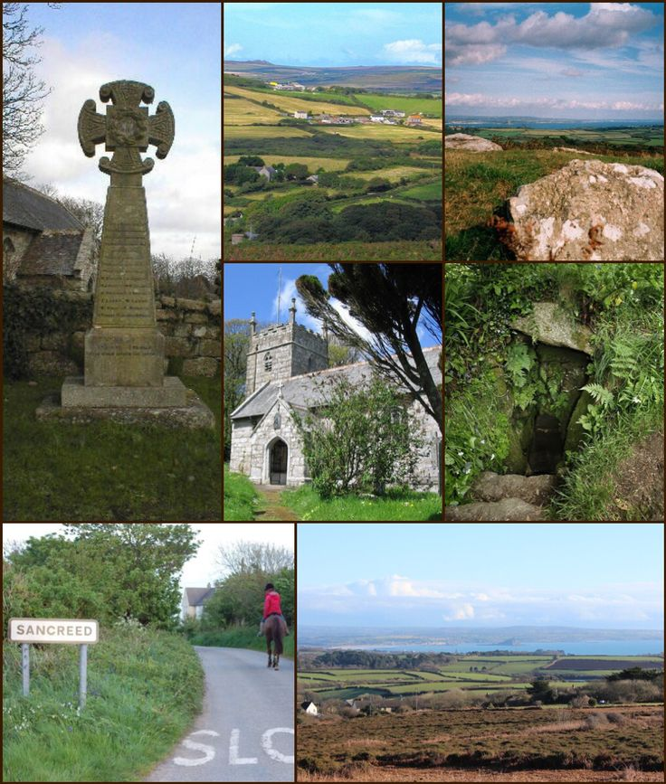 Sancreed (Cornish: Eglossankres) is a village and civil parish in Cornwall. The village is situated approximately three miles (5 km) from Penzance.  Sancreed civil parish encompasses the settlements of Bejouans, Bosvennen, Botreah, Drift, Sancreed, Trenuggo, and Tregonnebris. It is bounded by St Just parish to the west, Madron parish to the northeast, and St Buryan and Paul parishes to the south. The parish comprises 4,608 acres (18.65 km2) of land.  History:   Like many Cornish communities…