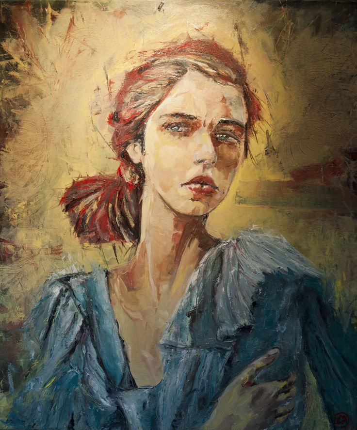 Girl with the halo (88 x 75, oil on canvas)