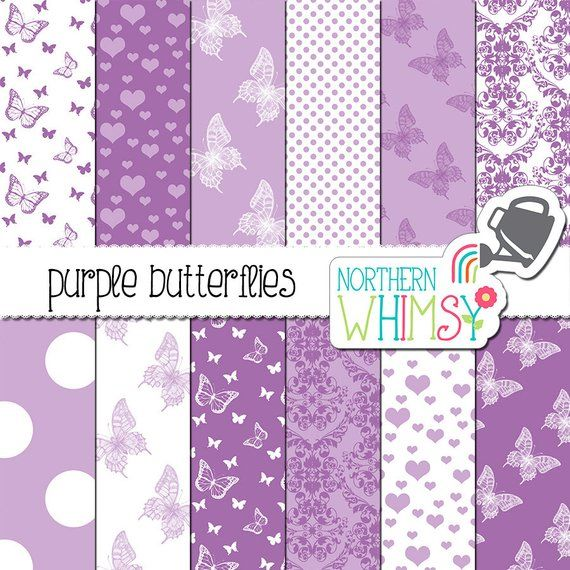 14 Papers 4 Frames Labels Tags 1 Word Art Lilacs in Spring Digital Paper Pack Lavender White Green Instant Download