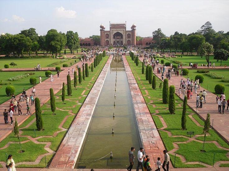 Amazing walkway to the Taj Mahal, Agra. Sacred Garden ... - 29 Best Persian Garden Images On Pinterest Islamic Architecture