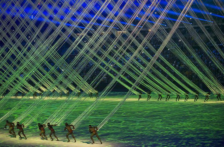 Cerimônia de abertura dos Jogos Olímpicos do Rio, no estádio do Maracanã (Eduardo Knapp - 5.ago.2016/Folhapress)