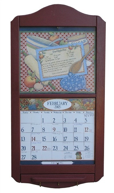 new calendar holder our classic style get one with a clock for your kitchen
