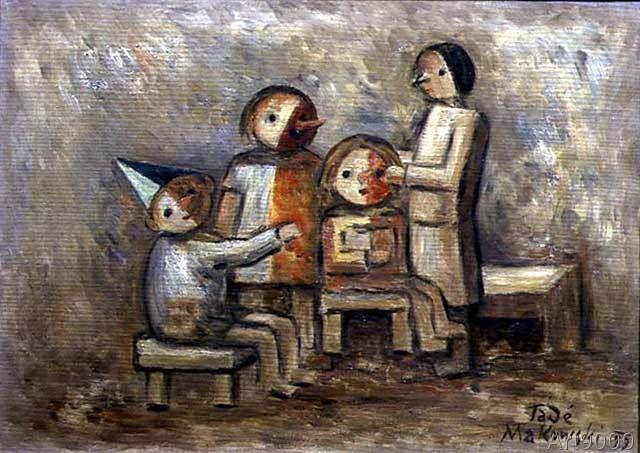 Tadeusz Makowski - Little Family, 1929 (31,0 x 22,0 cm)