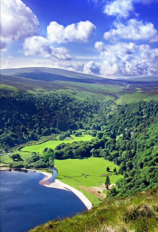 Wicklow Mountains south of Dublin city in Ireland