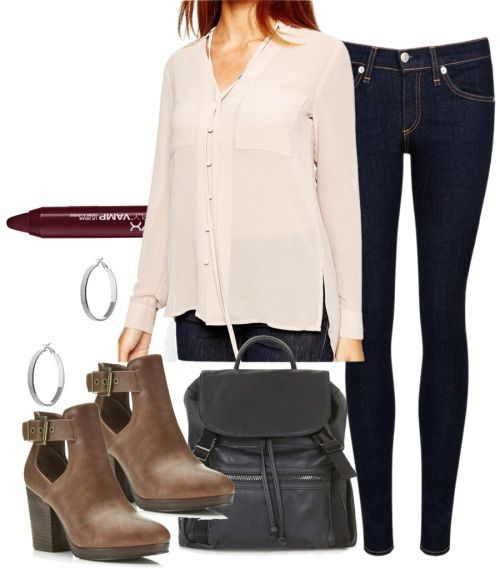 Bonnie inspired medical school orientation outfit by kit-kat227 featuring vegan ankle boots