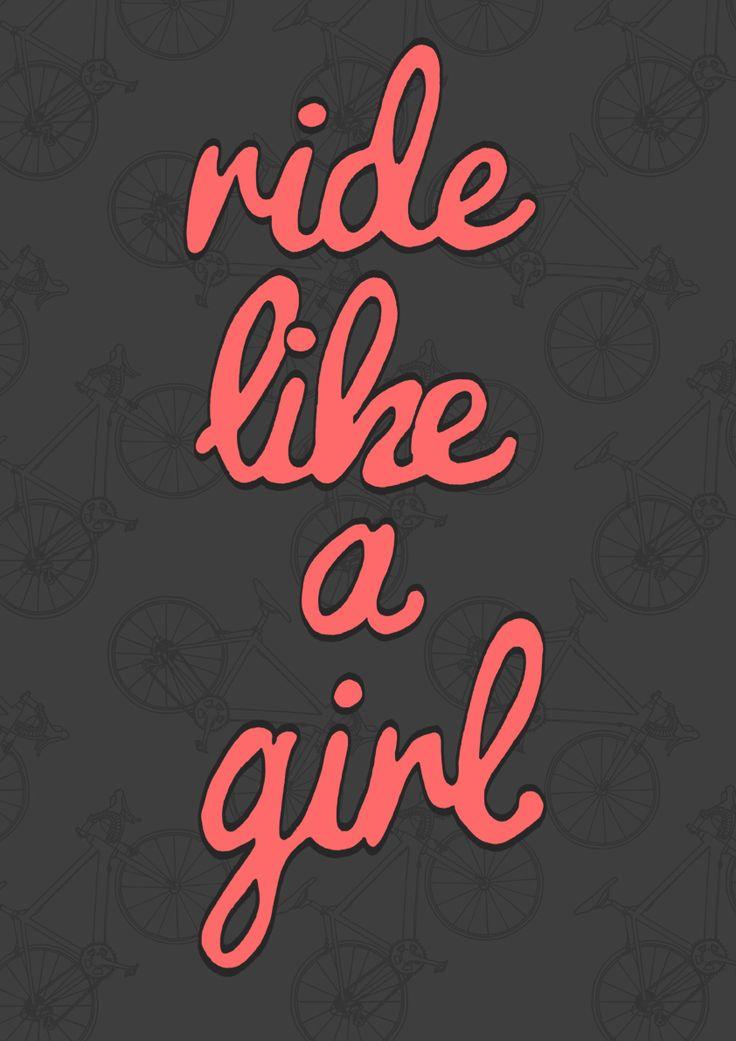 'Ride Like A Girl' digital printMaryann