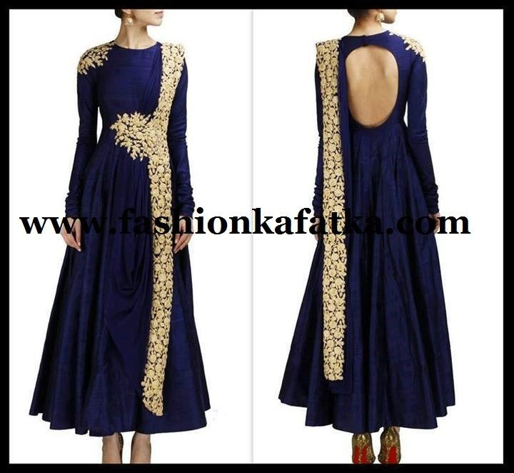 FKF Designer Blue Floor Length Anarkali   Bollywood Anarkali Suits