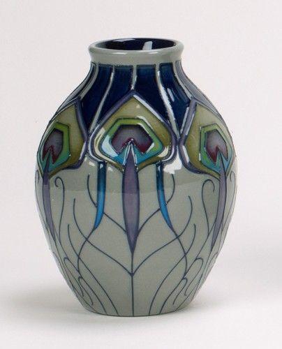 Moorcroft Handmade Ceramic Peacock Parade Vase 3 5 Nicola Slaney 2013 Collection | eBay