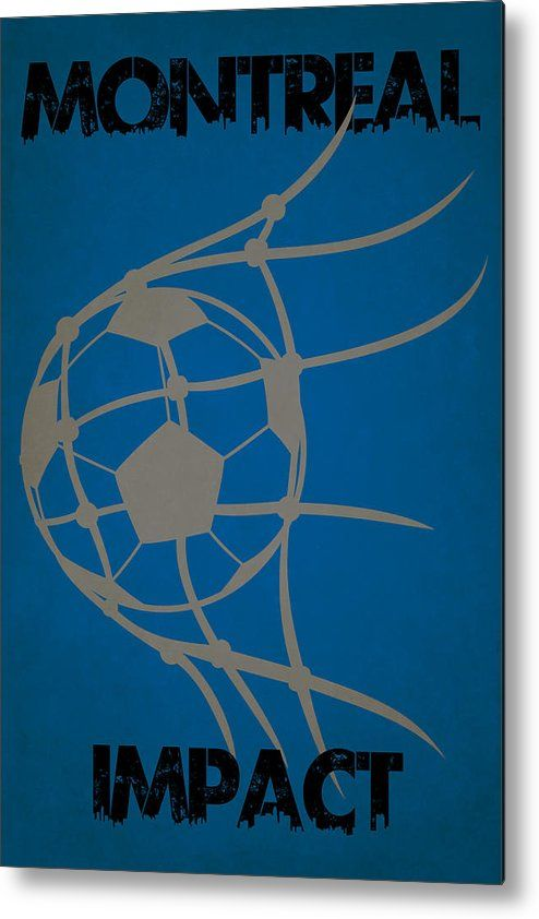 Impact Metal Print featuring the photograph Montreal Impact Goal by Joe Hamilton