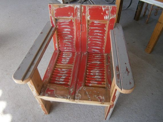 Handmade armchair made from old window shutters by SiloArtFactory