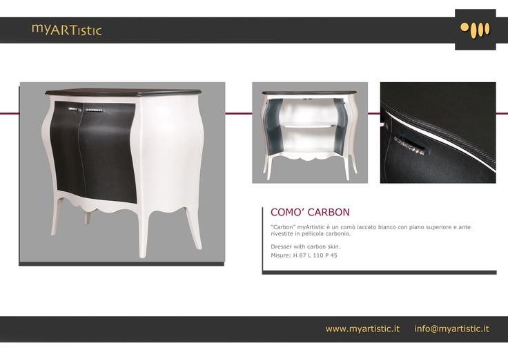 Dresser with carbon skin. By atelier myArtistic www.myartistic.it