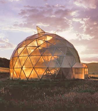 Geodesic Dome - pretty cool to build off the side of it?