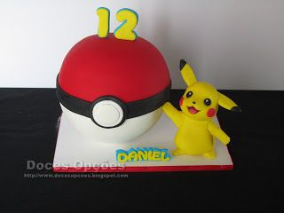 Doces Opções: Bolo de aniversário Pokémon
