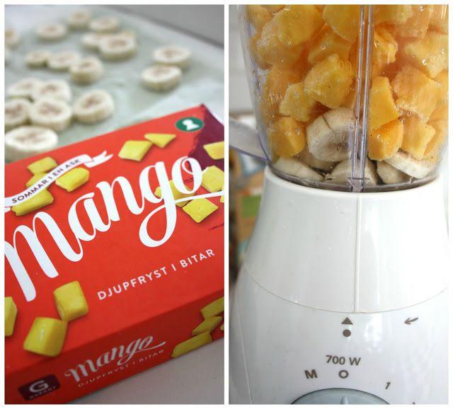 Madame Edith - Recept: Snabb glass med fryst mango