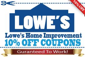 BUYLOWESCOUPONS.com Offers Lowe's 10 Off Coupons For $1 Each! Super Fast Email Delivery And Easy Checkout For Lowes Coupon!