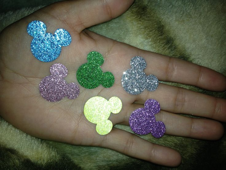 Hidden Mickey Wedding confetti