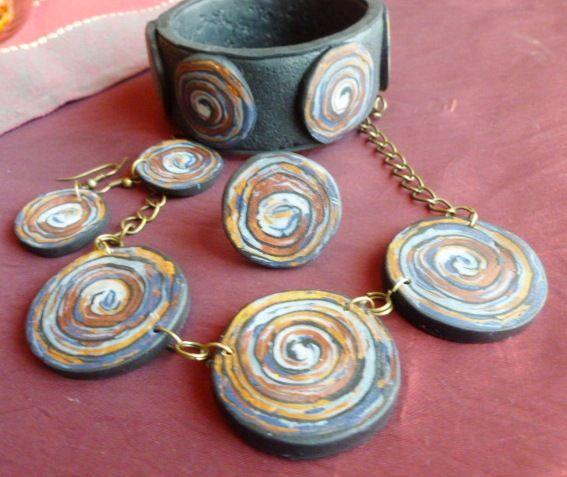Polymer Clay Jewelery set