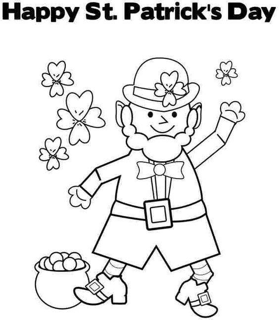 Mejores 30 imágenes de St Patrick\'s Day Coloring Pages en Pinterest ...
