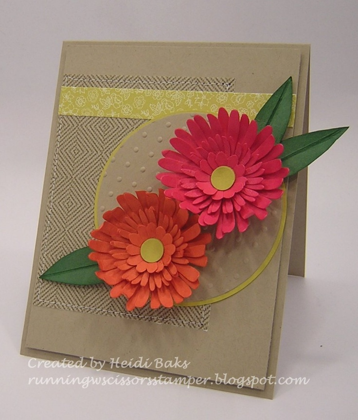 137 best card ideasusing paper flowers images on pinterest paper paper flowers using daisy 2 die retired card by heidi baks mightylinksfo