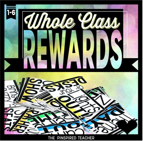 Whole Class Reward Ideas- 95 rewards to reward positive behavior for your class! Perfect for PBIS!