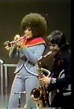 """Cynthia Robinson January 12, 1946 - November 23, 2015 was an American musician, best known for being the trumpeter and vocalist in Sly and the Family Stone. Her voice and presence were featured in the hit """"Dance To The Music"""". Robinson was among the first female trumpeters in a major American band, and the first such player in the Rock and Roll Hall of Fame. On November 23, 2015 Robinson died of cancer in Carmichael, California at the age of 71."""