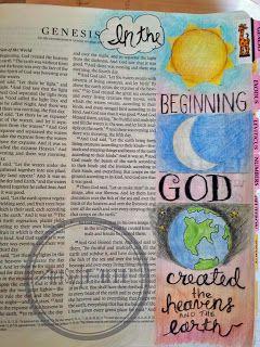 Artsy Faith: Genesis 1:1   Bible Art Journaling 101 FREE online class