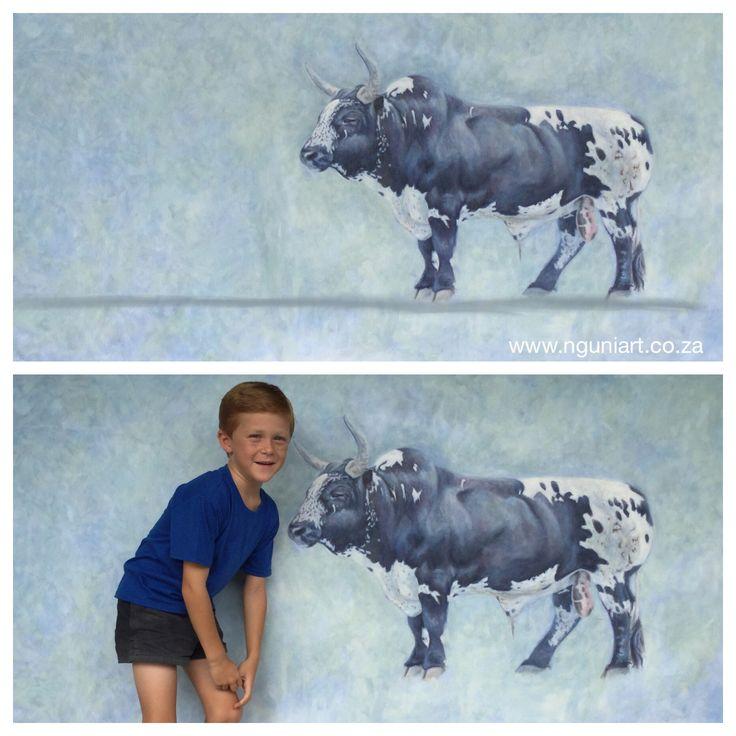 Nguni Bull, oil on canvas 2m x 1m  www.nguniart.co.za