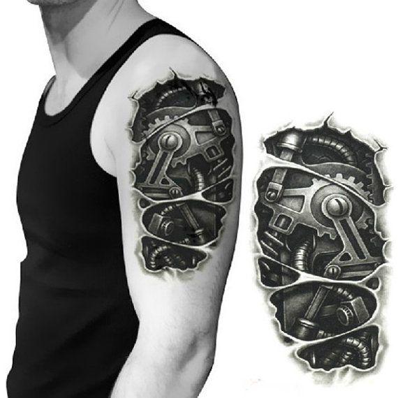3D Machine Pattern Arm Waterproof by RUSTIKOJewelrySuppli on Etsy