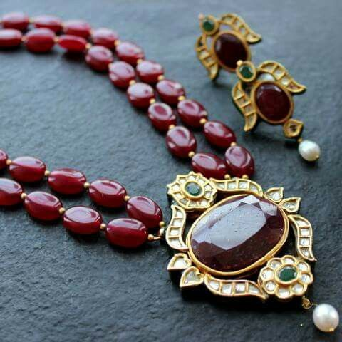 Ruby with uncut diamond