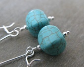 Gorgeous turquoise earrings from RosieJo on Etsy: Gorgeous Turquoise, Turquoi Earrings, Turquoise Earrings