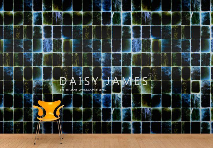 "DAISY JAMES wallcover ""The Sapphire""#interiordesign #Luxuryhouses #officedesign"
