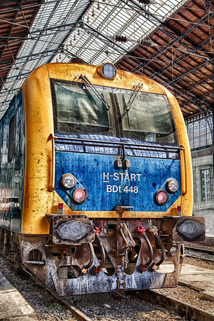 A train in one of Budapest's railway stations