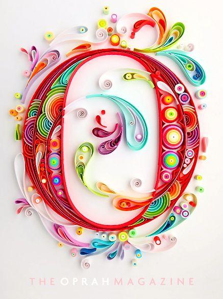 Yulia Brodskaya - quilling art (paper) - for The Oprah Magazine