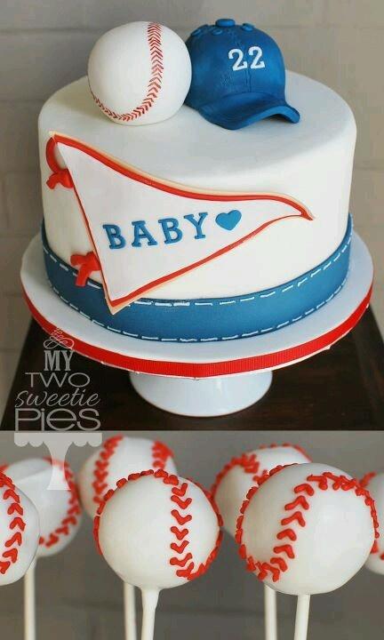 Baseball Themed Baby Shower