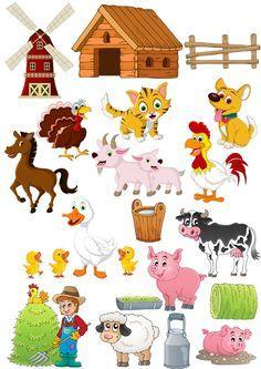 Знакомство детей с окружающим миром. Ферма, домашние животные, домашние птицы